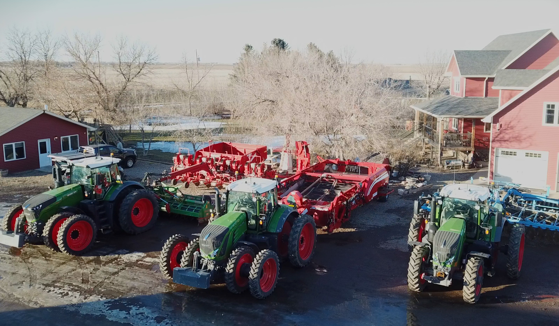 The Camps run a Fendt tractor from every category available in North America.