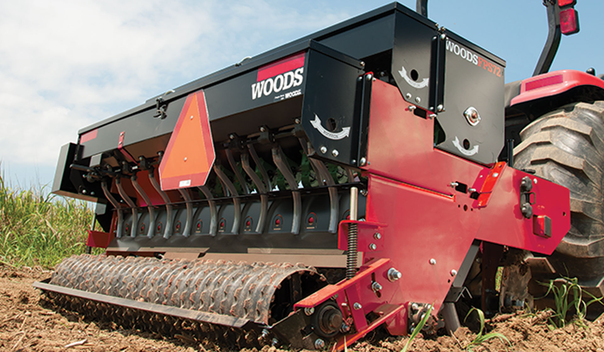 The Woods Precision Super Seeder can help with seed-to-soil contact.
