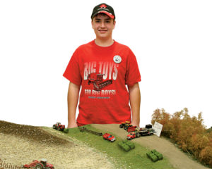Eric Rinkel and his diorama extraordinaire.