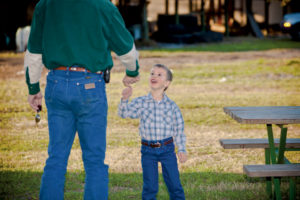 One of Cary's goals is to preserve the land for grandkids like 4-year-old Gabe Chandley.