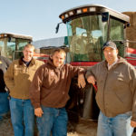 Ben, Spencer, Brad and Loren get ready for another day on the farm.