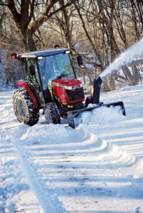 The 2360 snow blower will move 8 to 10 inches of snow easily.