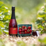 The Jones family's Strawberry Serenade wine.