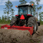 The Massey Ferguson box blade is a cinch to use.