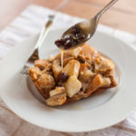 Apple-Walnut Bread Pudding With Brown Sugar Sauce