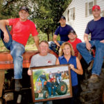 With Paul and Rosemary, the Gingue brothers (James, Shawn, Jeff and Dan) recreate a decades-old family portrait with their MF175, which is still running after 40-plus years.