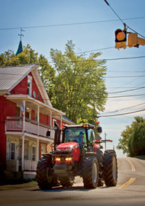 The MF8660 reduces travel time between farms by about 40 minutes.