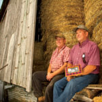 David (right) says it is every farmer's dream to see the farm go on to the next generation.
