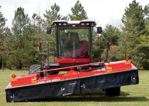 Hydraulic Header Flotation On Self-Propelled Headers