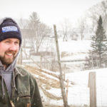 Nathaniel bundles up to get to work on the farm