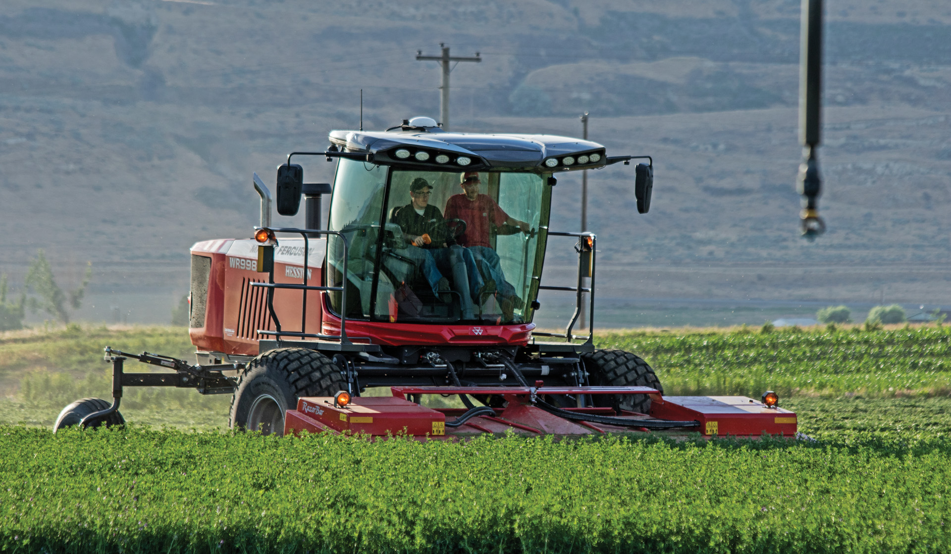 Hesston WR9900 Windrower - Power and Versatility