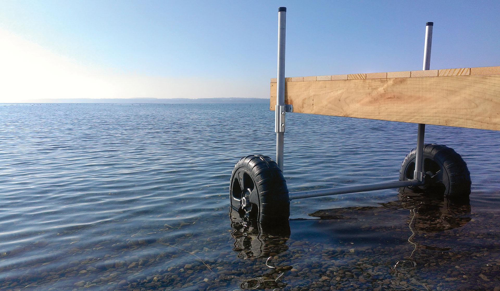 Build A Movable Pond Dock | myFarmLife com