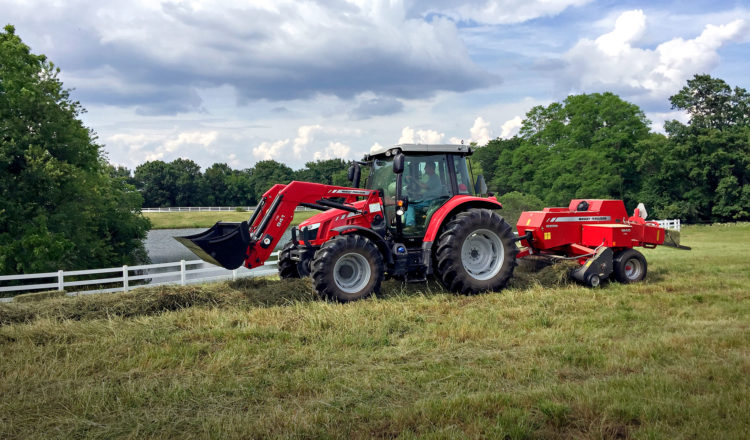 Jimmy Smithers' Massey Ferguson 4707 Global Series utility tractor stands ready for work on his farm.