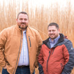 Eric Allphin (left) with company president Dustin Dover.
